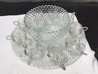 Duncan Miller Glass Bowl Set with Plate Frederick