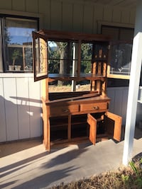 brown wooden cabinet with hutch Atascadero, 93422