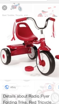 red and black Radio Flyer trike Courtice, L1E 3G5