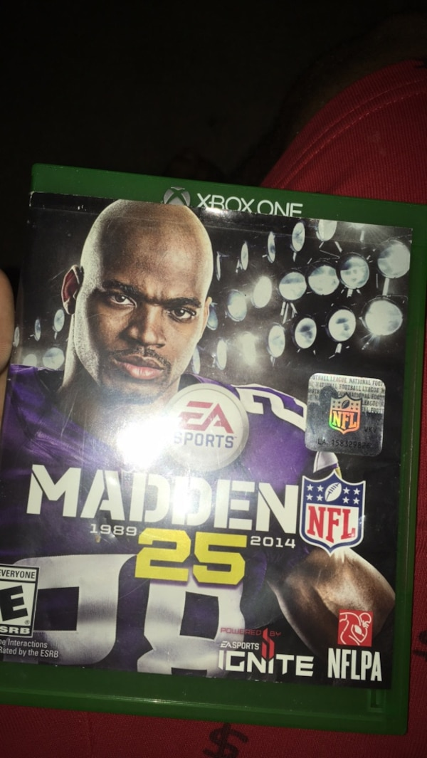 d894b0409d4 Used Madden nfl 25 xbox one game case for sale in Conyers - letgo