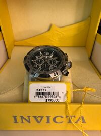 round silver-colored Invicta chronograph watch with link band New Haven, 06515