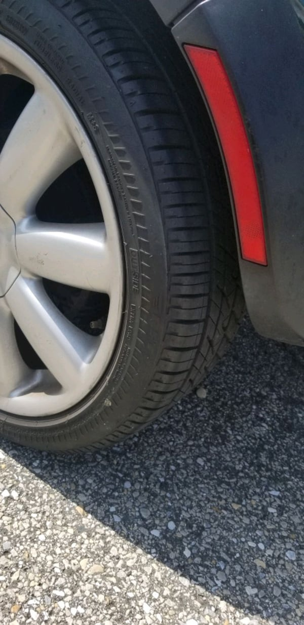 17x7  4x100  new tires wheels rims tires ONLY 2