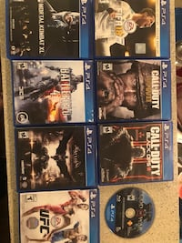 Six assorted ps4 game cases Irving, 75060