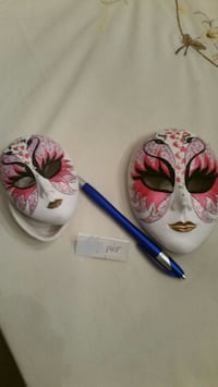 Hand Painted Ceramic Masks - from Venice Italy 198 mi