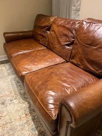 Beautiful Handmade Leather Couch