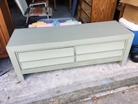 Rectangular green dresser with two drawers