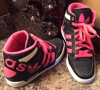 Adidas black, fuchsia,  & white high top shoes Calgary, T2J
