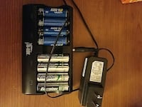 Battery charger and 8x AA rechargable batteries Waltham, 02453