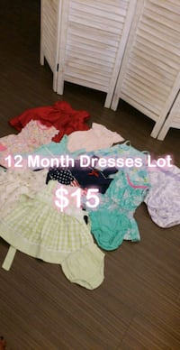 Baby girl Dresses, 12 month - $15 take all  Anaheim, 92805