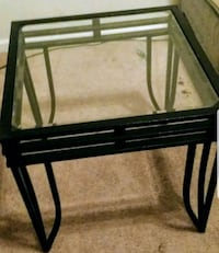 rectangular black metal framed glass top table 1199 mi