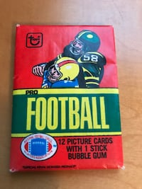 NFL 1980 Topps Wax Pack NFL FOOTBALL cards-  possible Phil Simms- Fouts- billy simms  Port Washington North, 11050