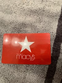 $50 Macy's Gift Card Winchester, 22602