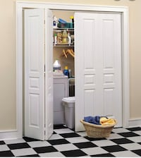 2 bifold doors from laundry room