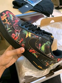 black-and-green floral low top sneakers Norfolk, 23505