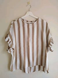 RIVER ISLAND White and brown shirt Greater London, SE19 3NL
