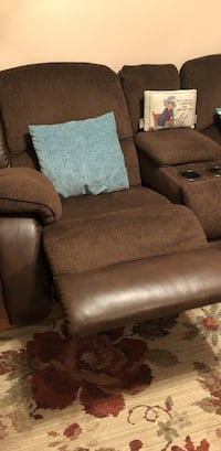brown fabric recliner sofa chair Inverness, 34452