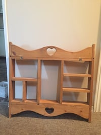 Pine Shelf and coat rack