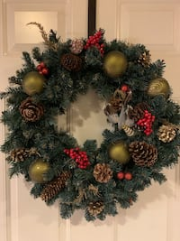 PAIR OF CHRISTMAS DOOR WREATHS  North Dumfries, N0B 1E0