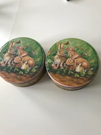 Two Easter Rabbit Candy Cans York, 17402