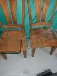 two brown wooden armless chairs Spokane, 99208
