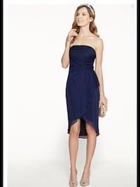 Le château blue strapless dress new with tags