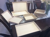 Wood Trays - $2 - $3.50 ea. or $20 for Entire Lot Courtice