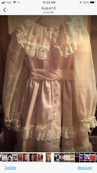 women's white and pink floral dress Toronto, M4A