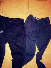 blue and white Adidas track pants East Riverdale, 20737