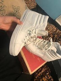Pair of white Vans Sk8 Hi Stockton, 95206