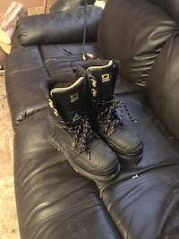 Pair of black leather boots West Grey, N0G