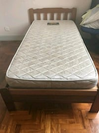 white and gray bed mattress Singapore