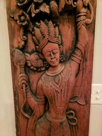 Antique carved door panels