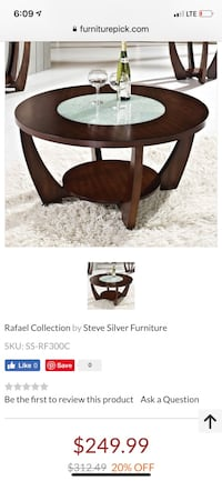 Brown wooden coffee table Hagerstown, 21740