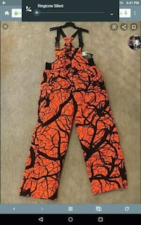 Cabela's snowpants bibs size large tall NEW!!