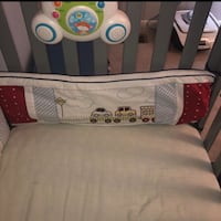 Baby boy crib bumpers car style 4 sides sterilized  Gaithersburg, 20878