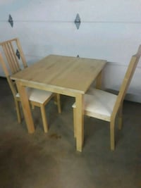rectangular brown wooden table with two chairs Chula Vista, 91911