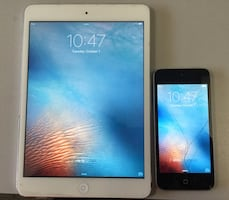iPad mini 2 (16 GB) and iPod touch 5th gen (16 GB