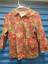 Woman large multicolored blouse vintage style size large l floral Hyattsville, 20784
