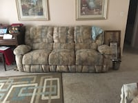 Two recliner sofa - king brass bed - dining room table and 6 chairs - china antique hutch  Dunedin, 34698