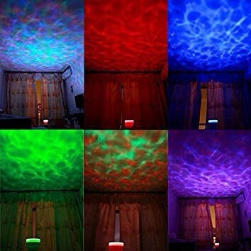 Marine lights projector with speaker
