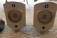 Solio outdoor indoor speakers with bracket and used speaker wire Alexandria, 22304