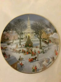 Danbury Mint Christmas plate.  Germantown