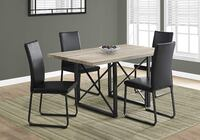black and brown wooden dining table set FAIRFAX