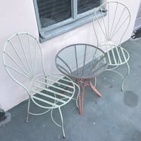 Iron Bistro Table & Chairs