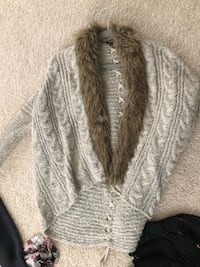 gray and white knit sweater Jacksonville, 28540