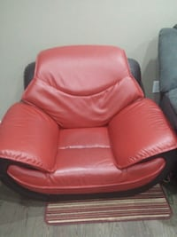red leather sofa chair with ottoman Guelph, N1K 1Z8