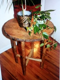 """""""Tree Trunk Top"""" End Table"""