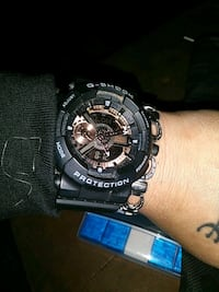Black G-Shock watch with gold face and hands Oklahoma City, 73159