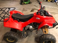 125cc 4 stroke red atv with electric start, reverse and working head lights. Reason for selling is I'm trying to get a dirt bike. Condition 7.5/10  price negotiable and the atv starts up pretty quick. Comes with key as well. My lowest offer is 750 Whitchurch-Stouffville, L4A 2H1