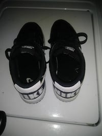 black-and-white Nike sneakers